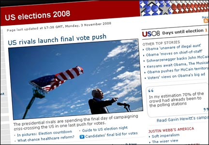 US Elections page