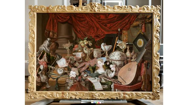 An oil painting of objects collected from around the world by the Paston family. © Norfolk Museums & Archaeology Service