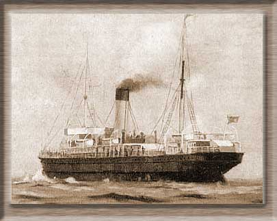 Painting of the SS Connemara, 1897