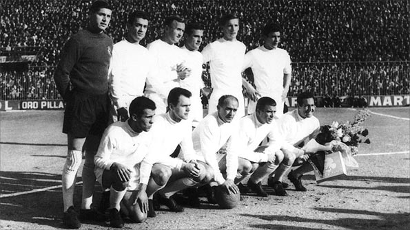 Real Madrid's class of 1960 - the greatest club side of all time. Credit: Getty