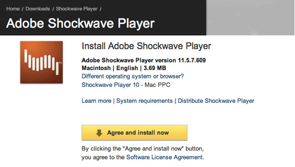 BBC - WebWise - Adobe Shockwave Player - Mac OSX download guide
