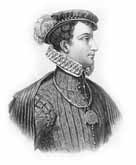 Black and white illustration showing Lord Darnley