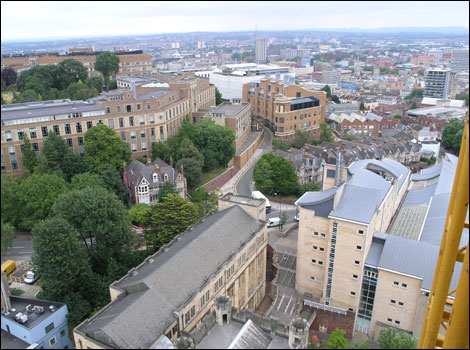 View from the Wills Memorial Building, Bristol