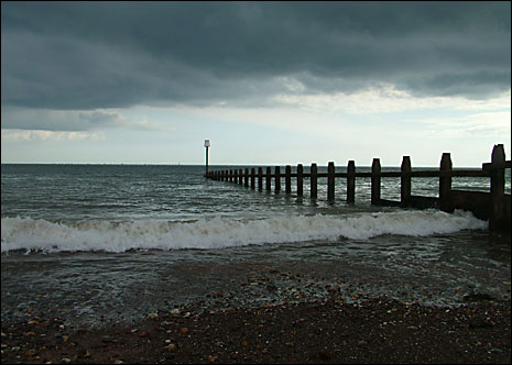 Dawlish Warren on a stormy day