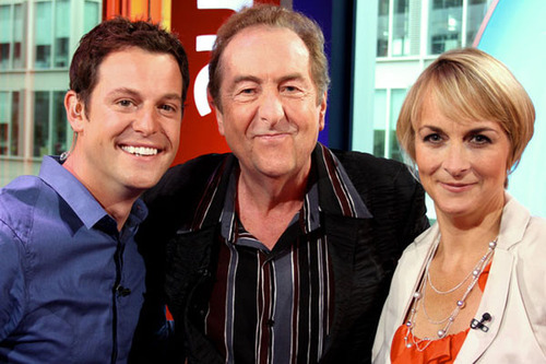 Matt Baker and Louise Minchin with Monty Python star Eric Idle on Monday, 12 July's episode of The One Show. This was the first episode of The One Show to be broadcast in High Definition