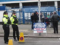 Police at the ground