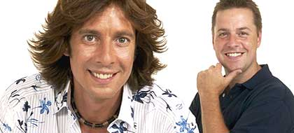 Laurence Llewelyn Bowen and Handy Andy