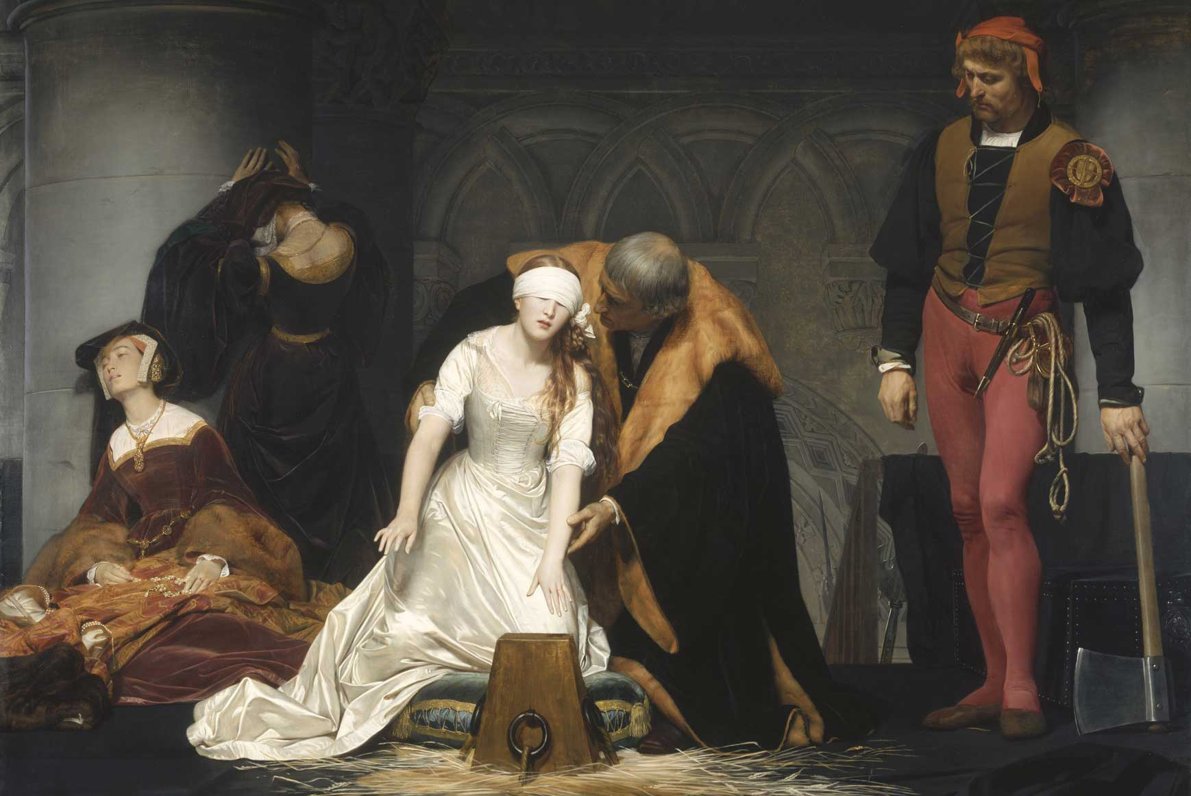 Paul Delaroche, The Execution of Lady Jane Grey 1833 © The National Gallery, London