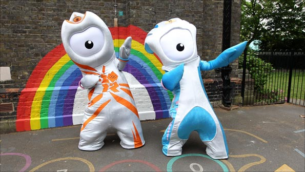 Wenlock and Mandeville the 2012 Olympic and Paralympic mascots