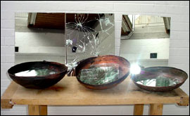 Lilian Nabulime's bowls with mirror
