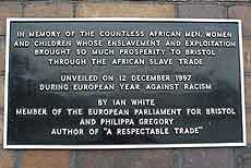 The Slave Trade memorial plaque
