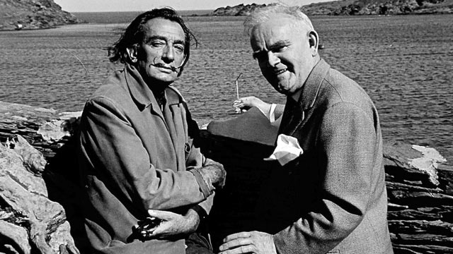 Salvador Dali and Tom Honeyman at Port Lligat