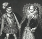 Mary Queen of Scots and her second husband Henry Stuart, Lord Darnley, parents of King James VI of Scotland, later King James.