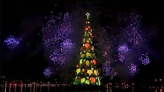 Aprenda ingl s contemplando un rbol de navidad flotante - Arbol de navidad en ingles ...