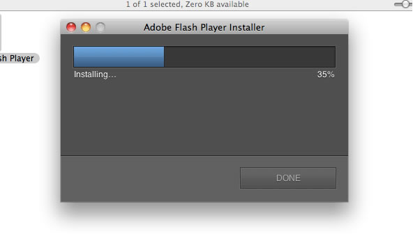 Flash download step 8 – Install