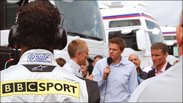 Ted Kravitz looks on as we chat to Martin Whitmarsh