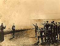 Image of artist's impression of 1916 execution