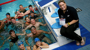 Swimfit participants in swimming pool