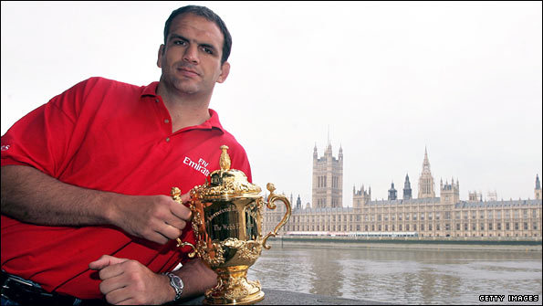 England manager Martin Johnson with the Rugby World Cup