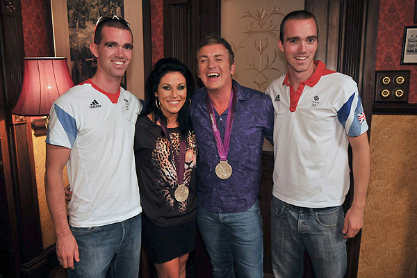 Richard and Peter Chambers with Jessie Wallace and Shane Richie
