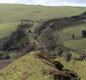 A photo of Offa's Dyke today. Bits are now missing, but Offa's earth bank is still Britain's longest ancient monument.