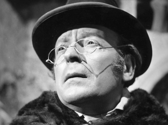 Actor Leslie French as Mr Woodhouse in a BBC Adaptation of Jane Austen's Emma.