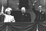 HM King, Queen and Churchill, 8th May 1945