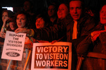 Protesting Visteon workers