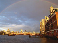Rainbow over London (Getty Images)