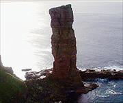 Aerial picture of the Old Man of Hoy