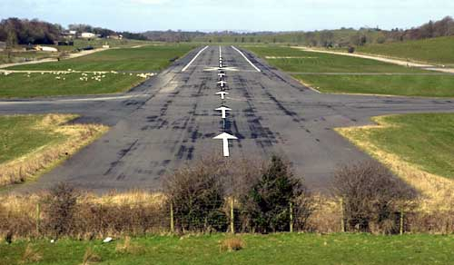 The runway at St. Angelo Airport, Co.Fermanagh
