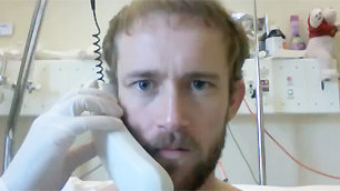 Fully Sick Rapper (aka) Christiaan van Vuuren on the phone in quarantine