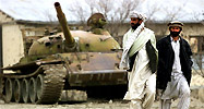 An old Russian tank rots in Afghanistan