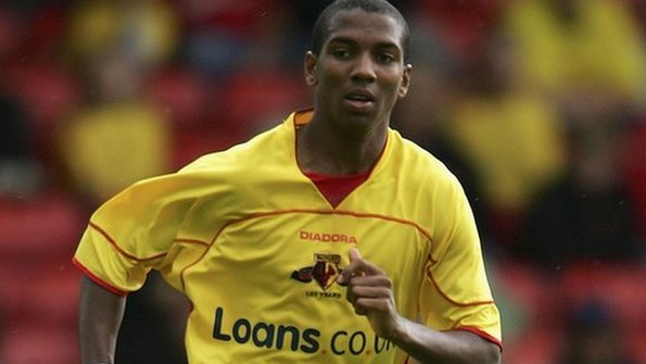 Ashley Young in action for Watford.