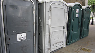 Disabled portable toilets