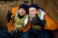 Mitchell and Webb in a basket