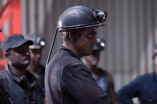 Miners from Richard Sharpe's mine in The Indian Doctor