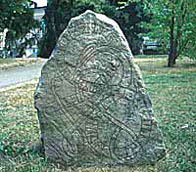 Image of runestone from Uppsala