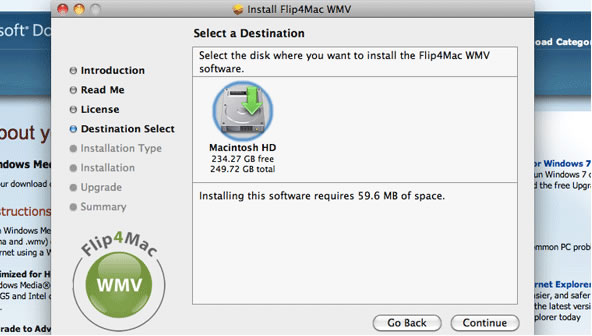 Windows Media Player download step 12 – Destination Select