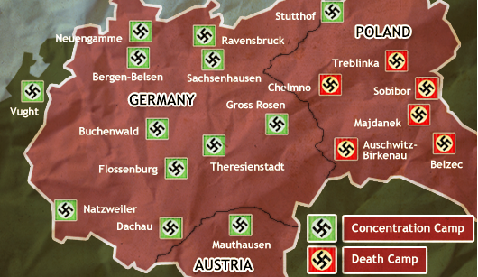 BBC GCSE Bitesize How Was Life Affected During The War Years - Us concentration camps ww2 map