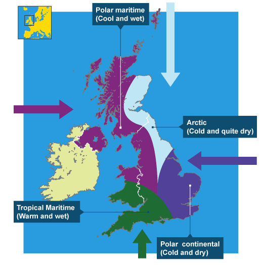 climate and polar maritime air essay Characteristics of the british climate (40) the purpose of this essay is to describe, with specific reference to highland and lowland regions, the british climate also an explanation of how air masses, latitude, continentally, and ocean currents can interact to determine the british climate before reaching a.