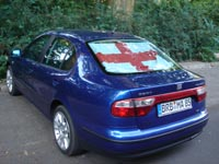 The car which belongs to the German who supports England