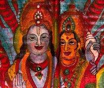 Durga with her consort Shiva
