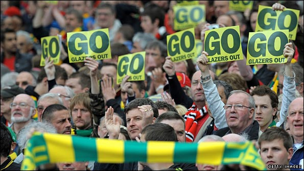 Man Utd fans register their unhappiness with the Glazer gamily