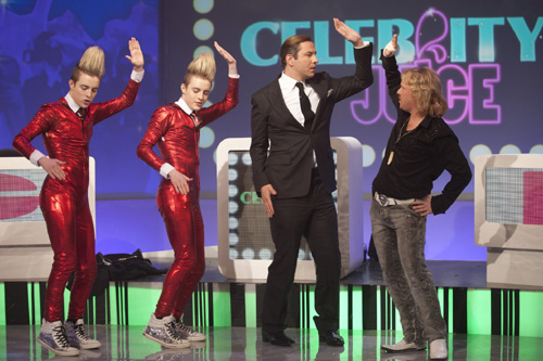David Walliams on Celebrity Juice with Jedward and Keith Lemon.