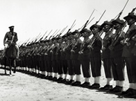A 1934 photograph showing an Iraqi Army inspection