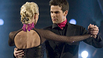 Camilla Dallerup and Gethin Jones dancing the Argentine Tango
