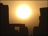 Picture: The Sun overlooking Stonehenge
