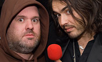 Chris with Russell Brand on the launch of Red Nose Day 07