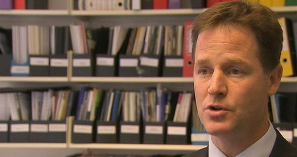 Nick Clegg, guest on Desert Island Discs on BBC Radio 4 on 24 October.